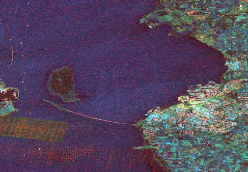 A Sentinel-1 radar dataset over Malmö in southern Sweden and the Öresund bridge. Photo Ian Brown.