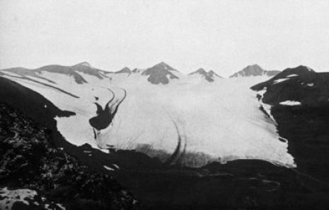 Pårteglaciären 4 Sep., 1901. Photo Axel Hamberg